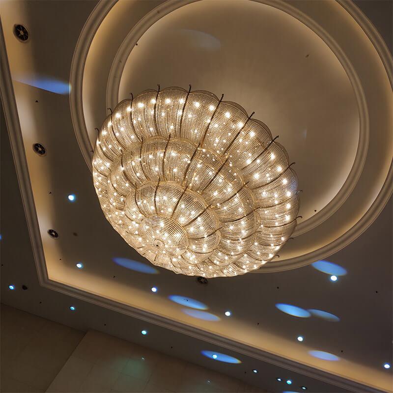 上海酒店宴会厅吊灯定制_星级酒店会议厅水晶吊灯
