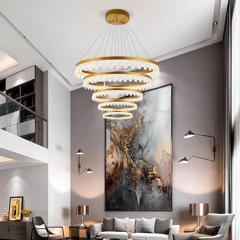 别墅客厅吊灯