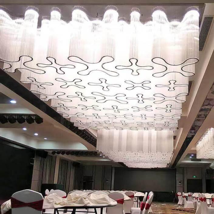 酒店多功能大厅水晶灯顶灯定制