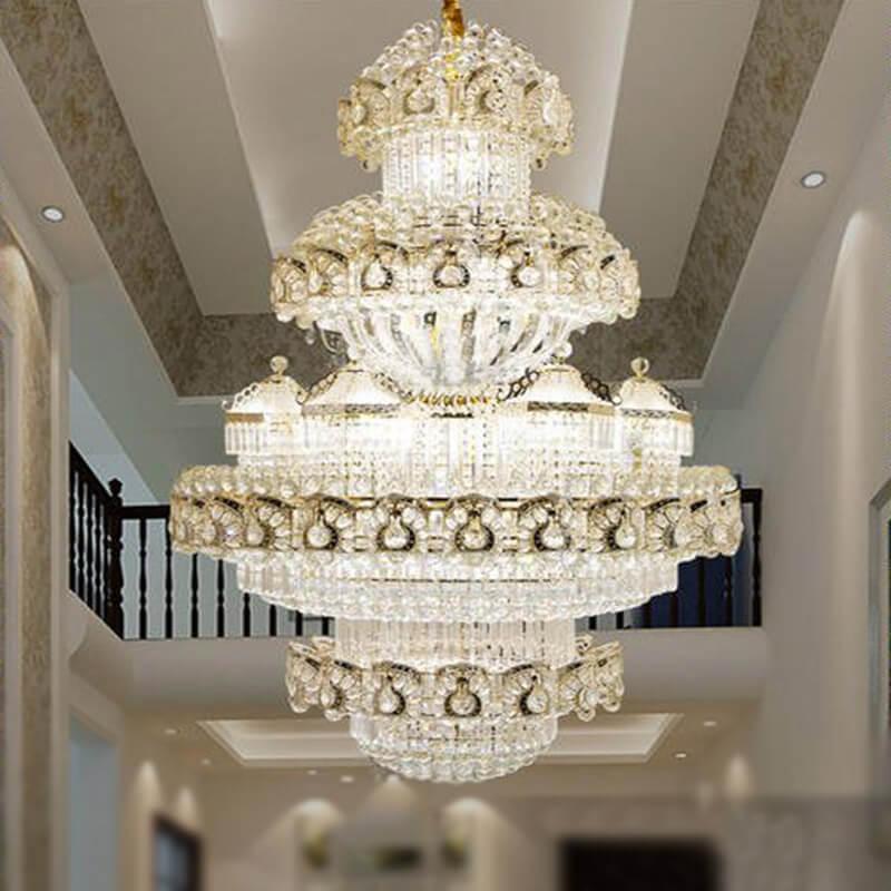 复式别墅大厅水晶吊灯定制